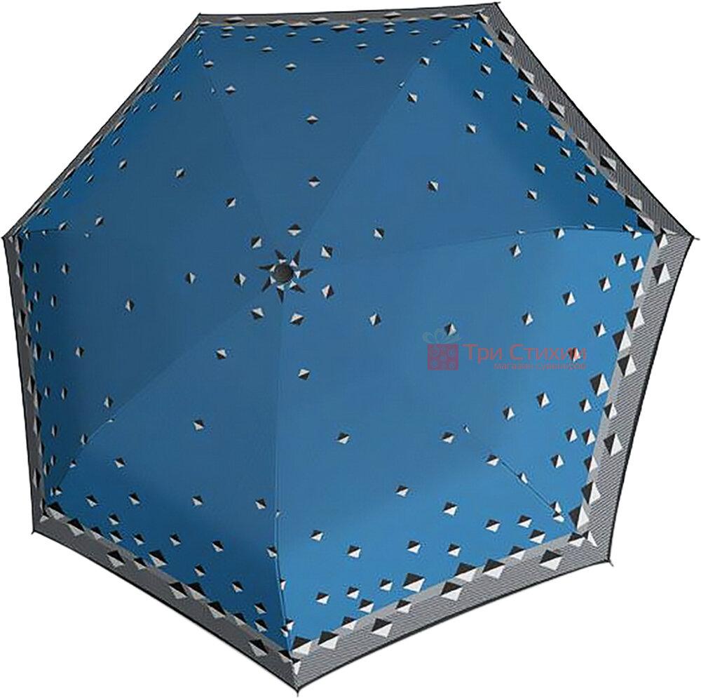 Зонт складной Derby 744165PTR-2 автомат Синий ромбы, Цвет: Синий, фото