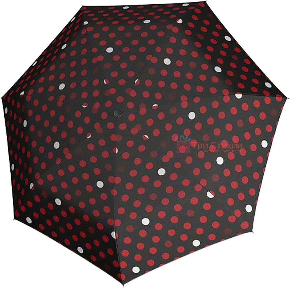 Зонт складной Derby 744165PTR-7 автомат Красный горох, Цвет: Красный, фото