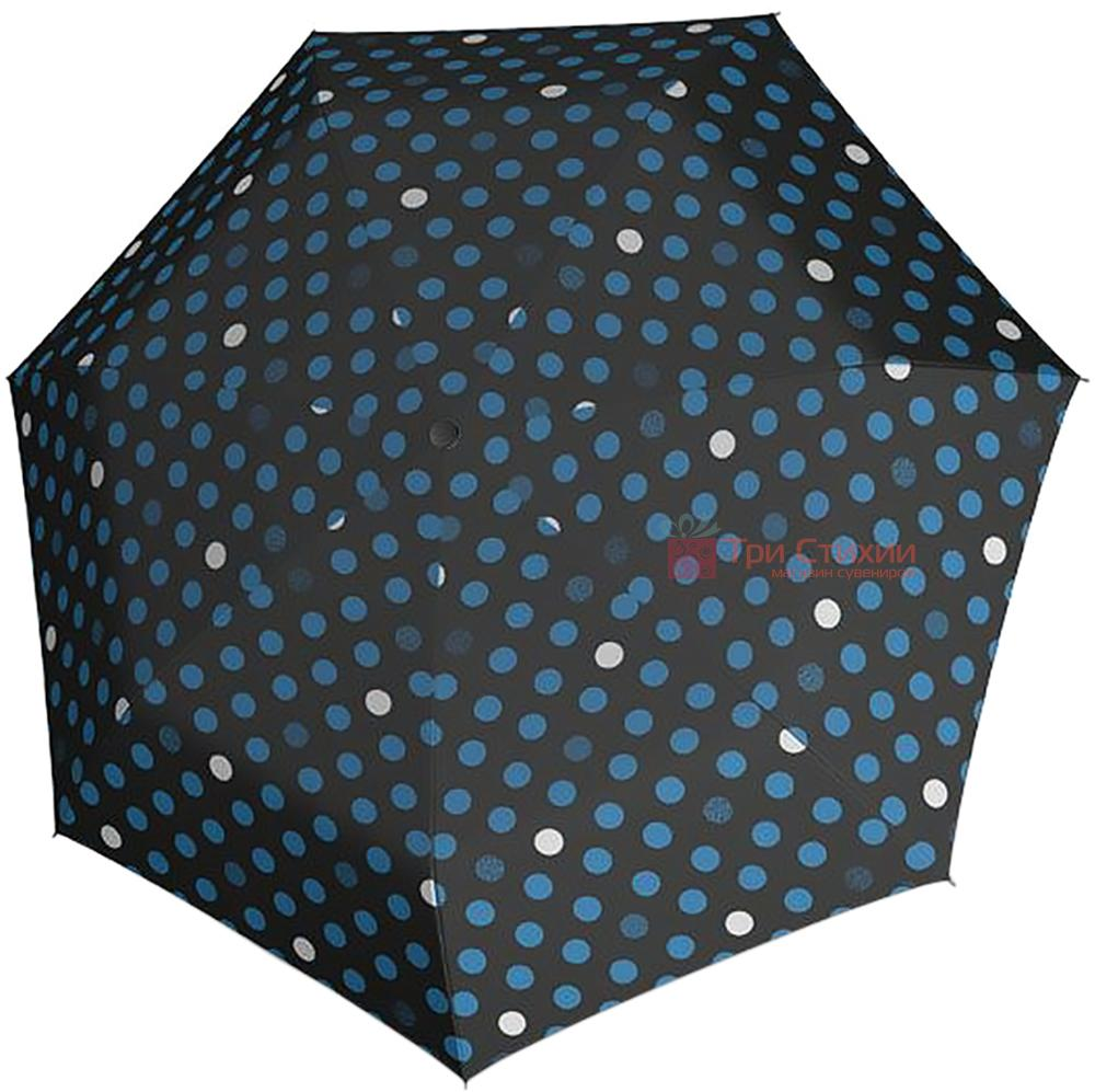 Зонт складной Derby 744165PTR-8 автомат Синий горох, Цвет: Синий, фото