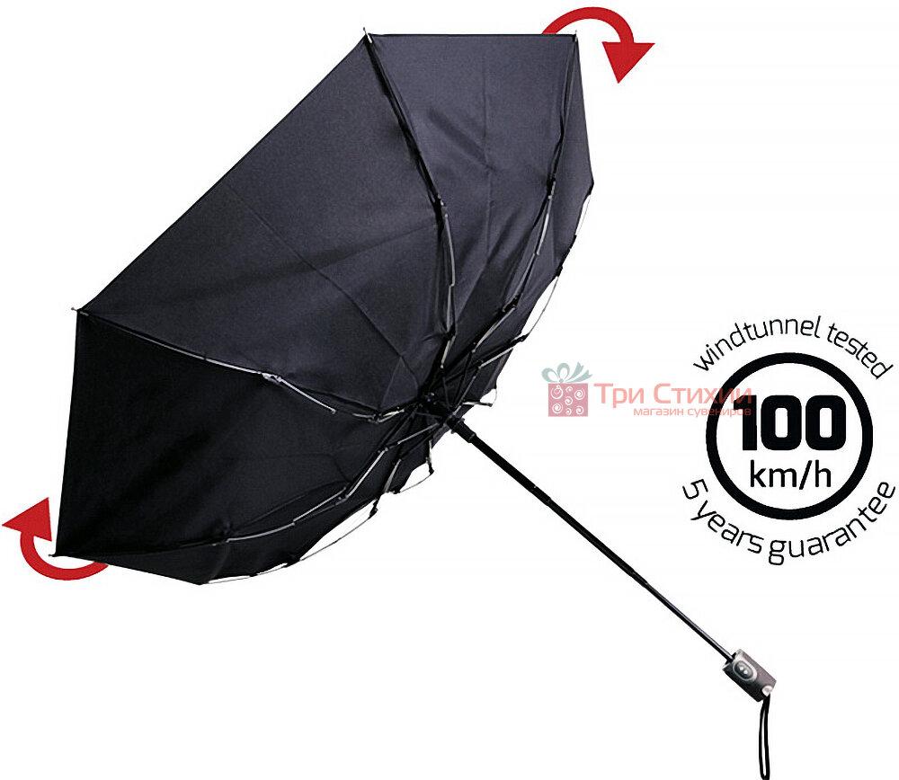 Зонт складной Doppler с UV-фильтром 744765ST-1 автомат Черный, фото 3