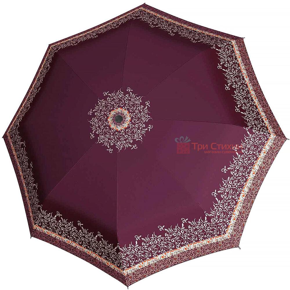 Зонт складной Doppler с UV-фильтром 744765ST-3 автомат Бордовый, Цвет: Бордовый, фото