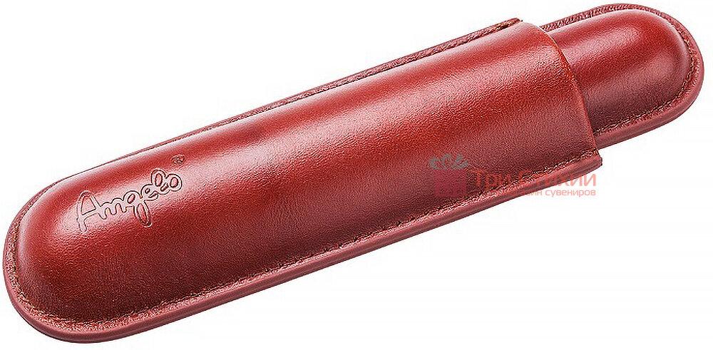Футляр Angelo кожаный для 1 сигары 15 см, диаметр 1,3 см (81101) Коричневый, фото 2