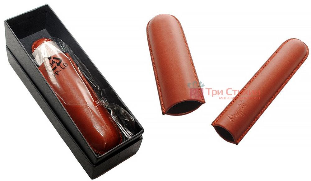 Футляр Angelo кожаный для 1 сигары 15 см, диаметр 1,3 см (81101) Коричневый, фото 3