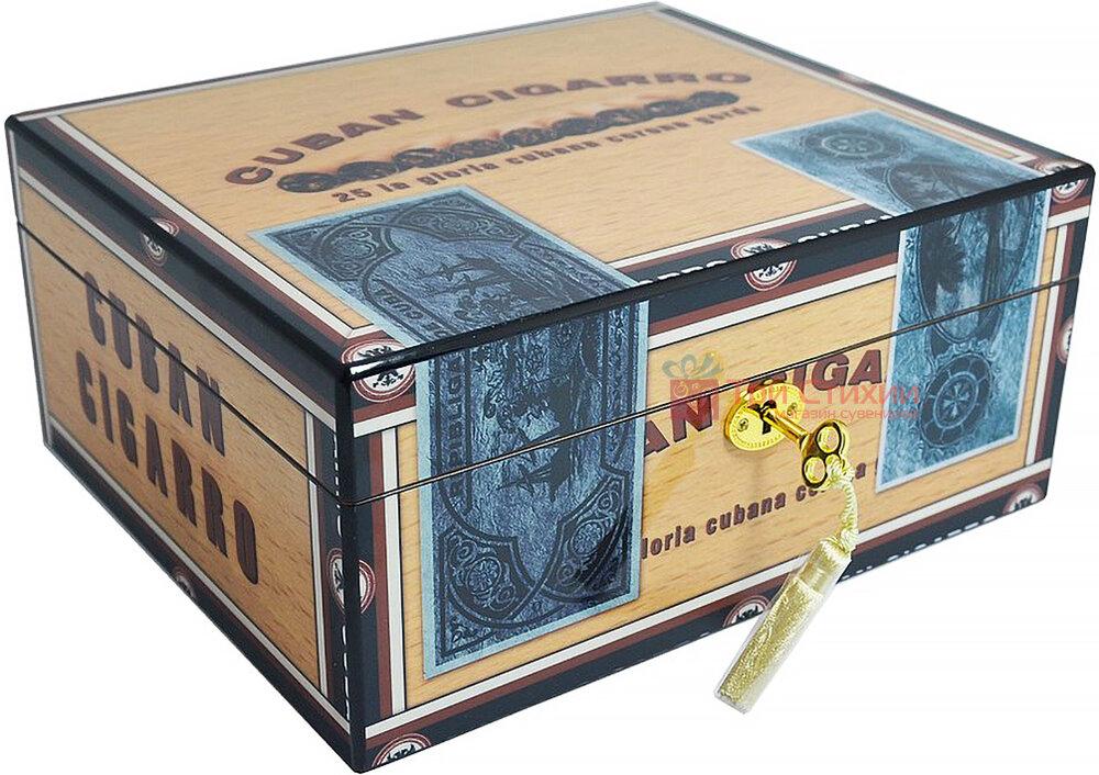 Х'юмідор Angelo на 25 сигар CUBAN CIGARRO (920310), фото
