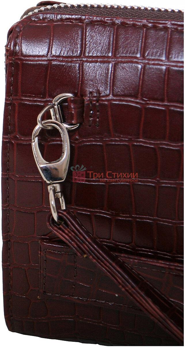 Сумка-клатч Vip Collection 410.B.CROC Бордовая, фото 7