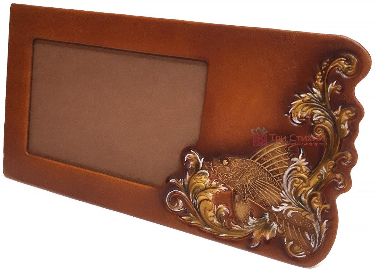 Рамка для фото Макей Золота рибка шкіряна (519-08-03), фото 2