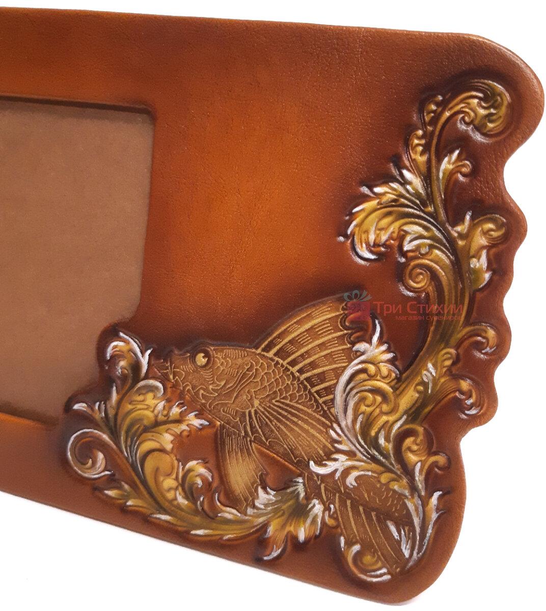 Рамка для фото Макей Золота рибка шкіряна (519-08-03), фото 3