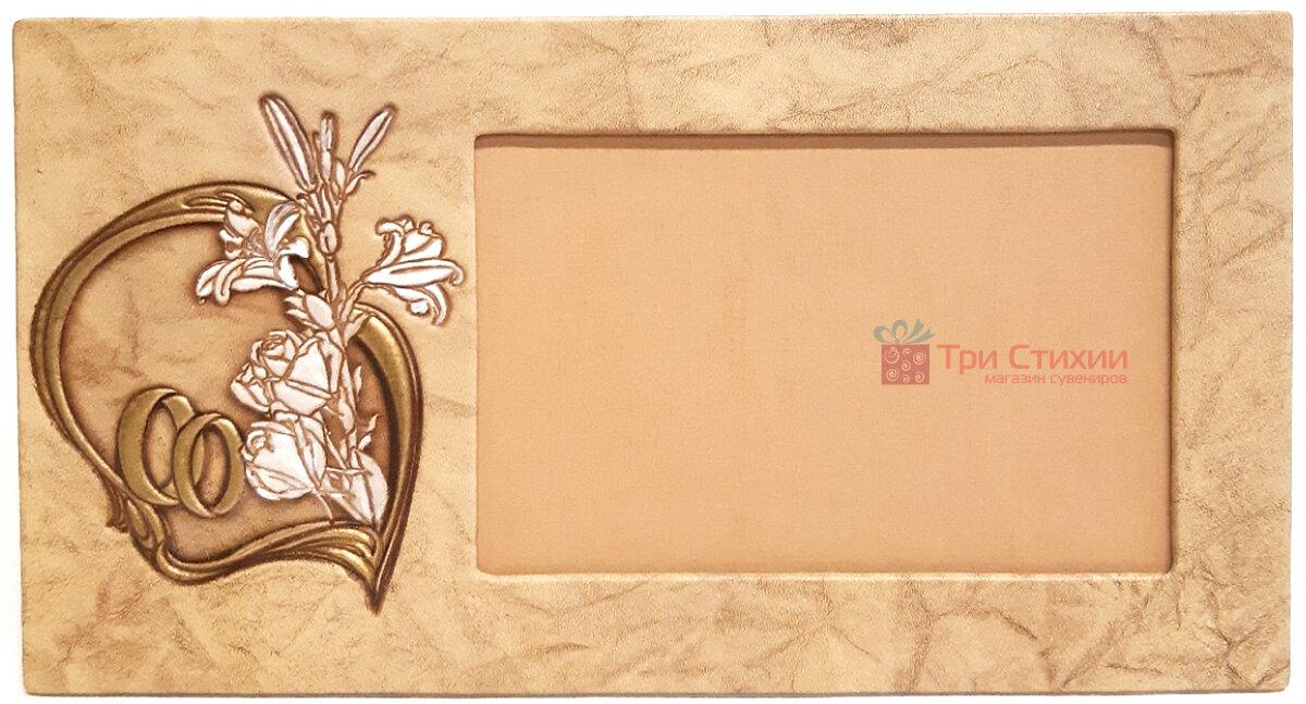 Рамка для фото Макей кожаная Свадебная (519-08-06), фото
