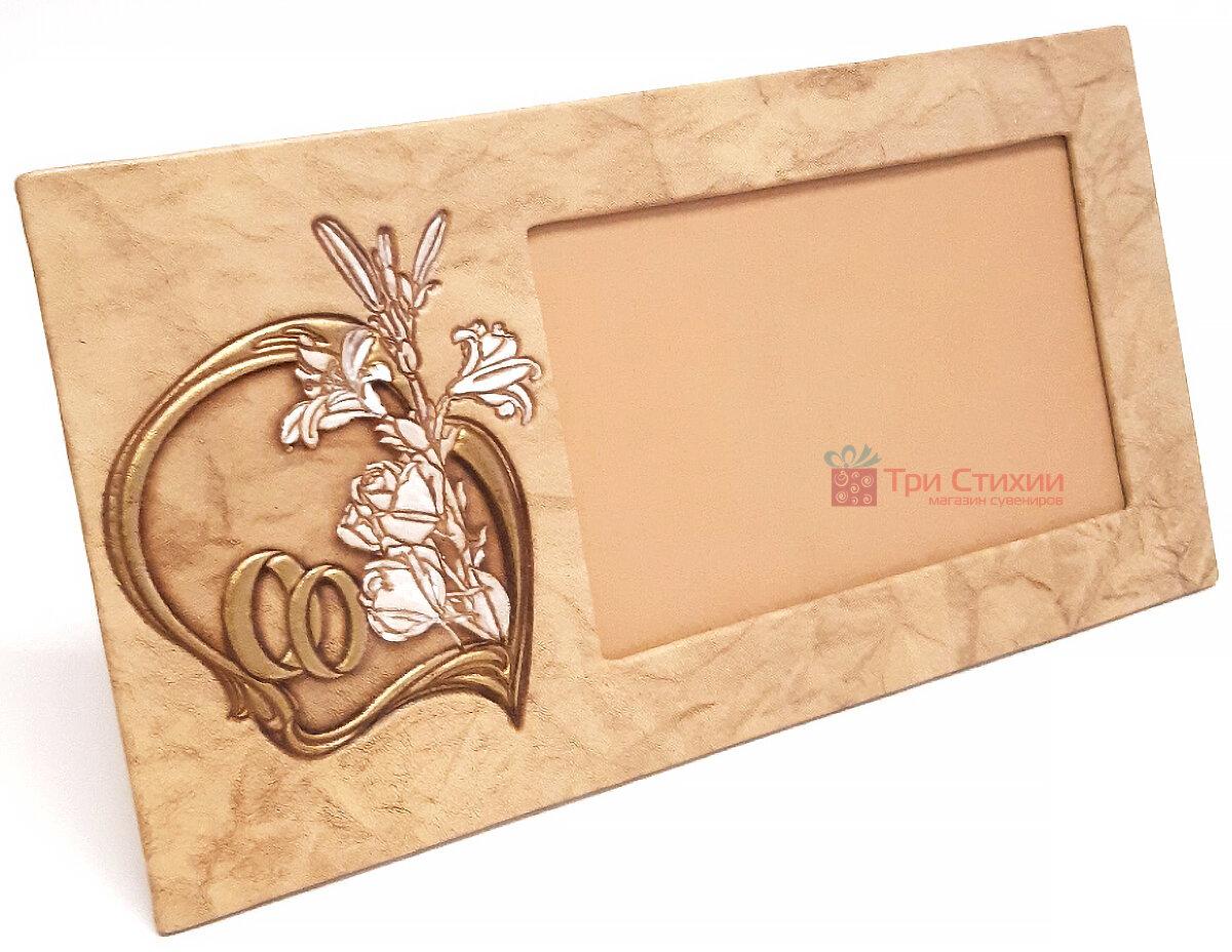 Рамка для фото Макей кожаная Свадебная (519-08-06), фото 2
