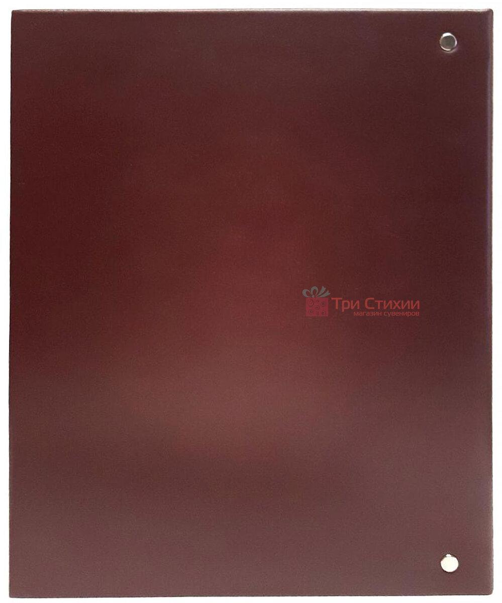Родословная книга Макей кожаная (620-07-09 Б) Бордовая, Цвет: Бордовый, фото 5