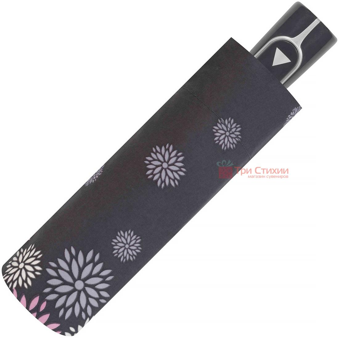 Зонт складной Doppler 7301652902-1 полуавтомат Серые цветы, Цвет: Серый, фото 2