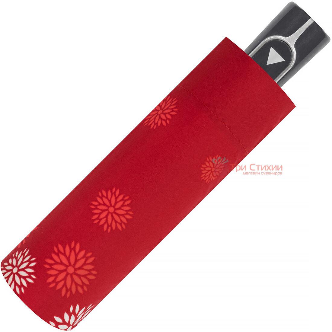 Зонт складной Doppler 7301652903-1 полуавтомат Красные цветы, Цвет: Красный, фото 2