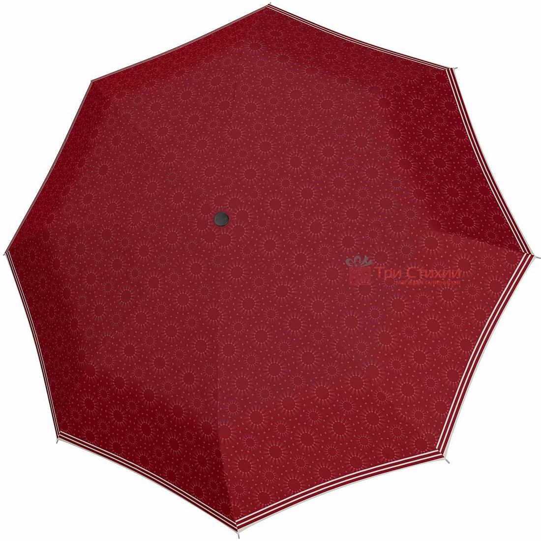 Парасолька складана Doppler 7301652903-3 напівавтомат Червона, Колір: Червоний, фото