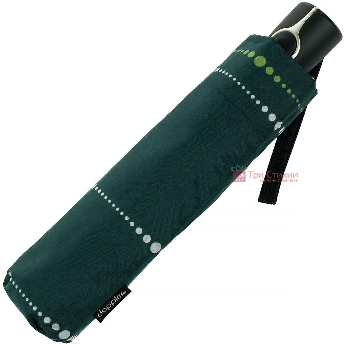 Парасолька складана Doppler 730165S02 напівавтомат Зелена, фото 2