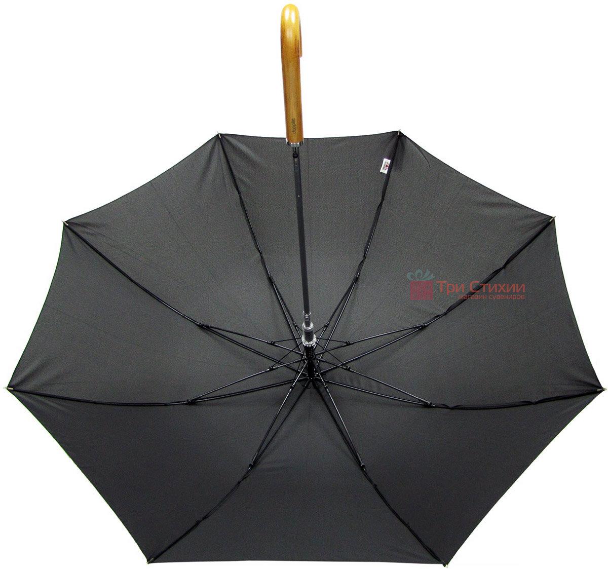 Зонт-трость Doppler 740167-3 полуавтомат Черный, фото 4