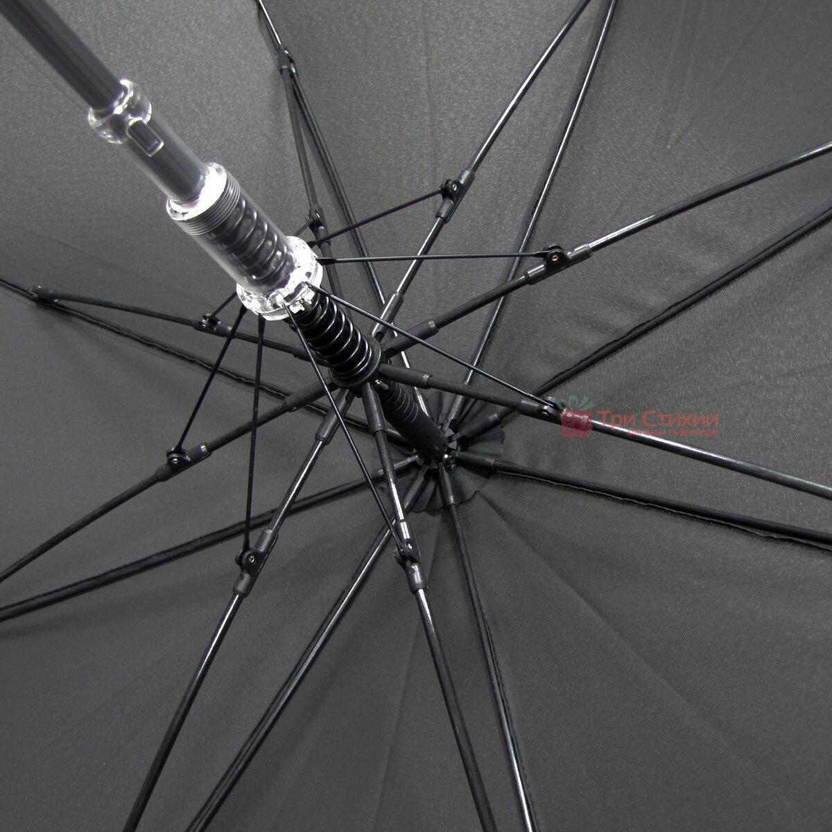 Зонт-трость Doppler 740167-3 полуавтомат Черный, фото 5