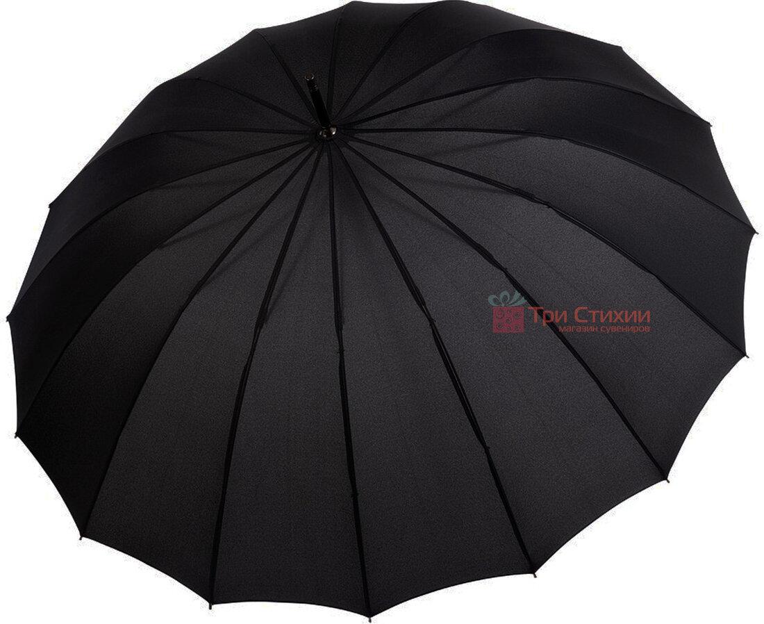 Парасоля-тростина Doppler 741963DSZ напівавтомат Чорна, Колір: Чорний, фото