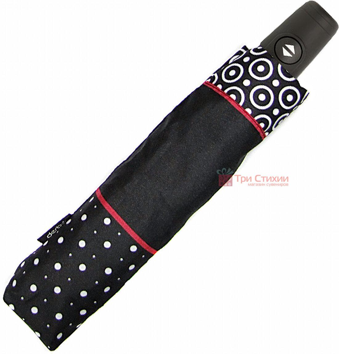 Зонт складной Derby 744165PL-3 полный автомат Красная полоса, фото 2