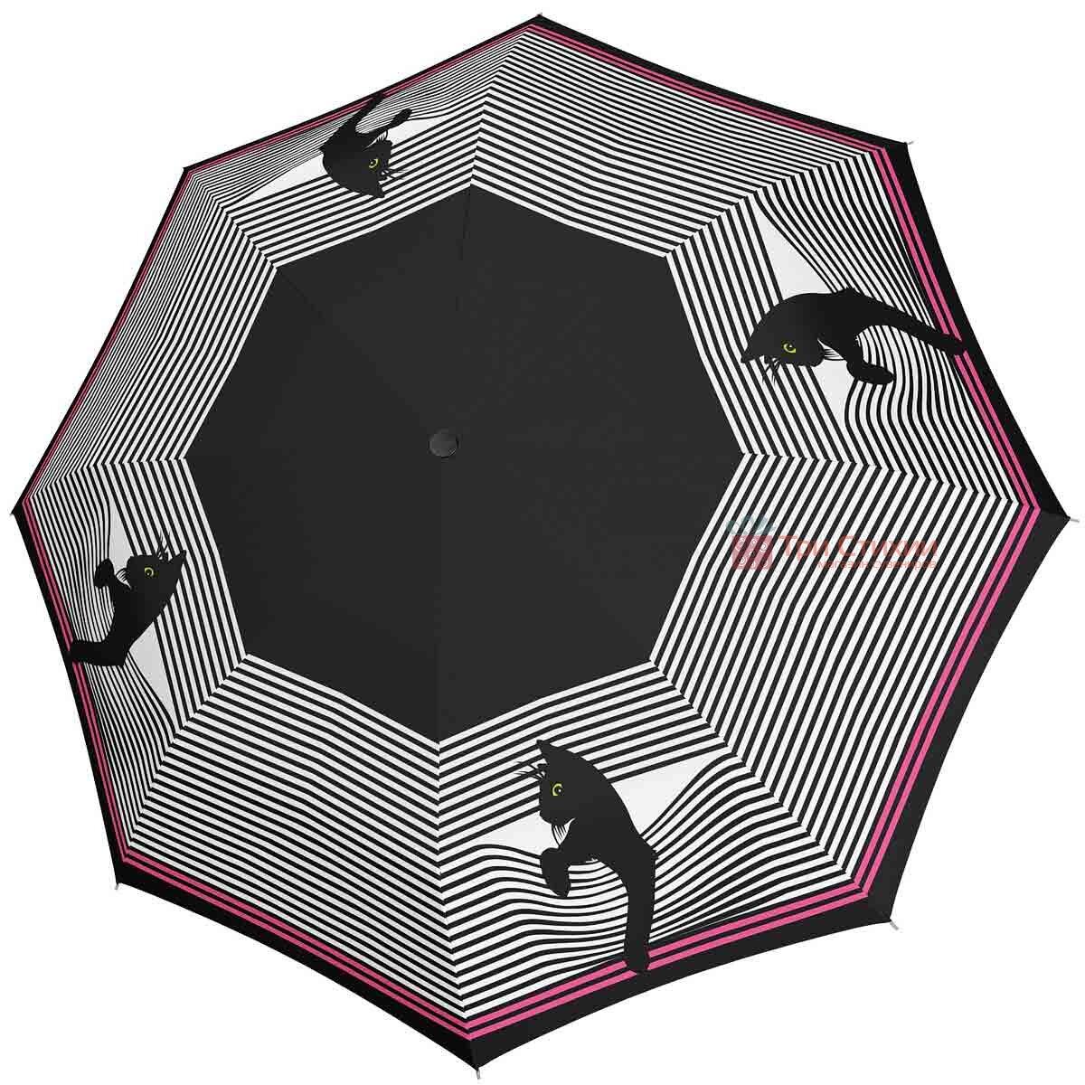 Зонт складной Doppler 746165CO автомат Кошки Черно-белый, фото