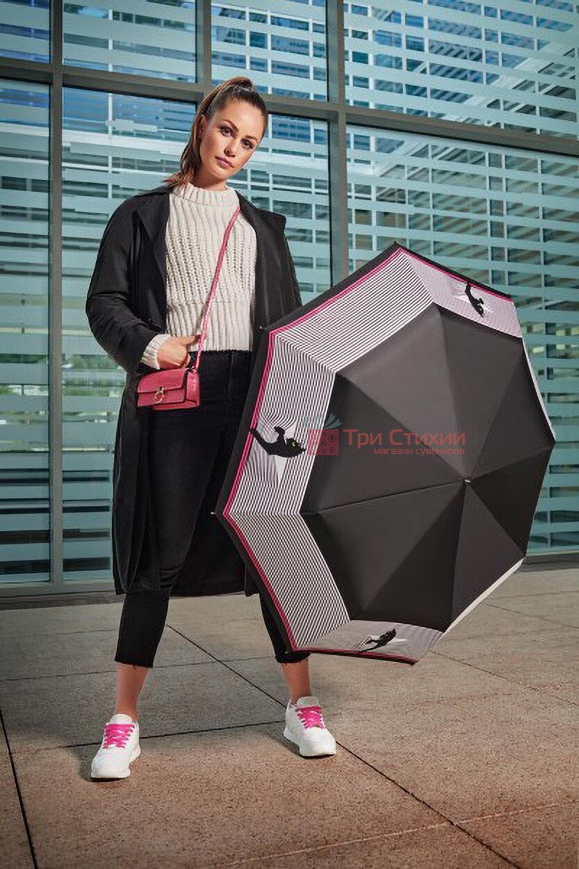 Зонт складной Doppler 746165CO автомат Кошки Черно-белый, фото 3