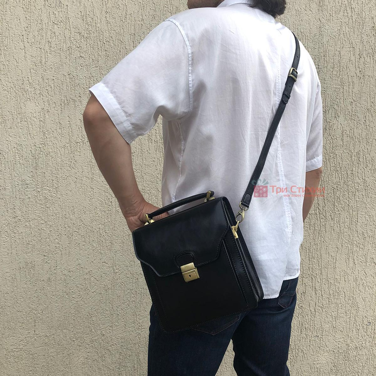 Сумка-планшет Tony Perotti Italico 8265-it Чорна, фото 5