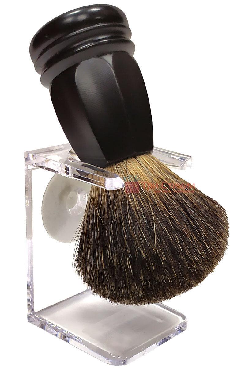 Помазок барсук на подставке Rainer Dittmar Pfeilring 1015-6-1 Черный, Цвет: Черный, фото