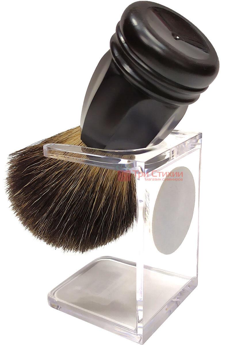 Помазок барсук на подставке Rainer Dittmar Pfeilring 1015-6-1 Черный, Цвет: Черный, фото 2