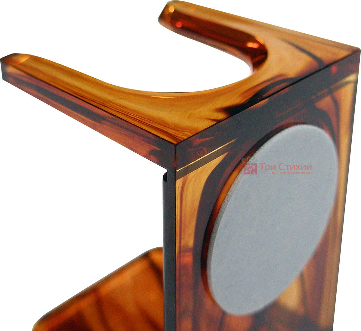 Помазок барсук на подставке Hans Baier 51041-1 на подставке Коричневый, фото 5