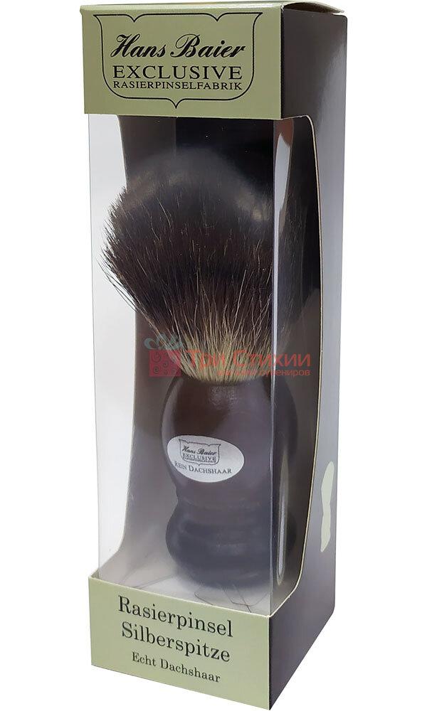 Помазок барсук для бритья Hans Baier 51051 Коричневый, фото 3