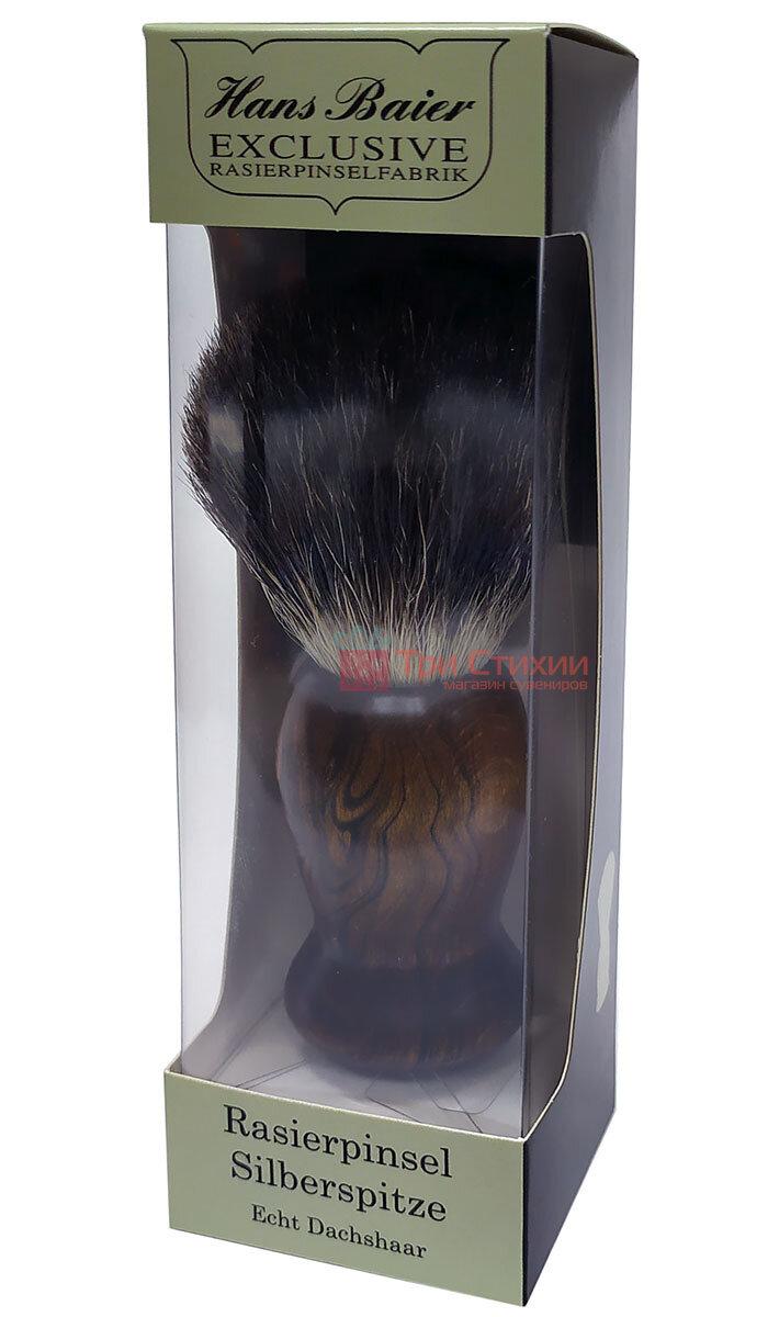 Помазок барсук для бритья Hans Baier 51181 Коричневый, фото 3