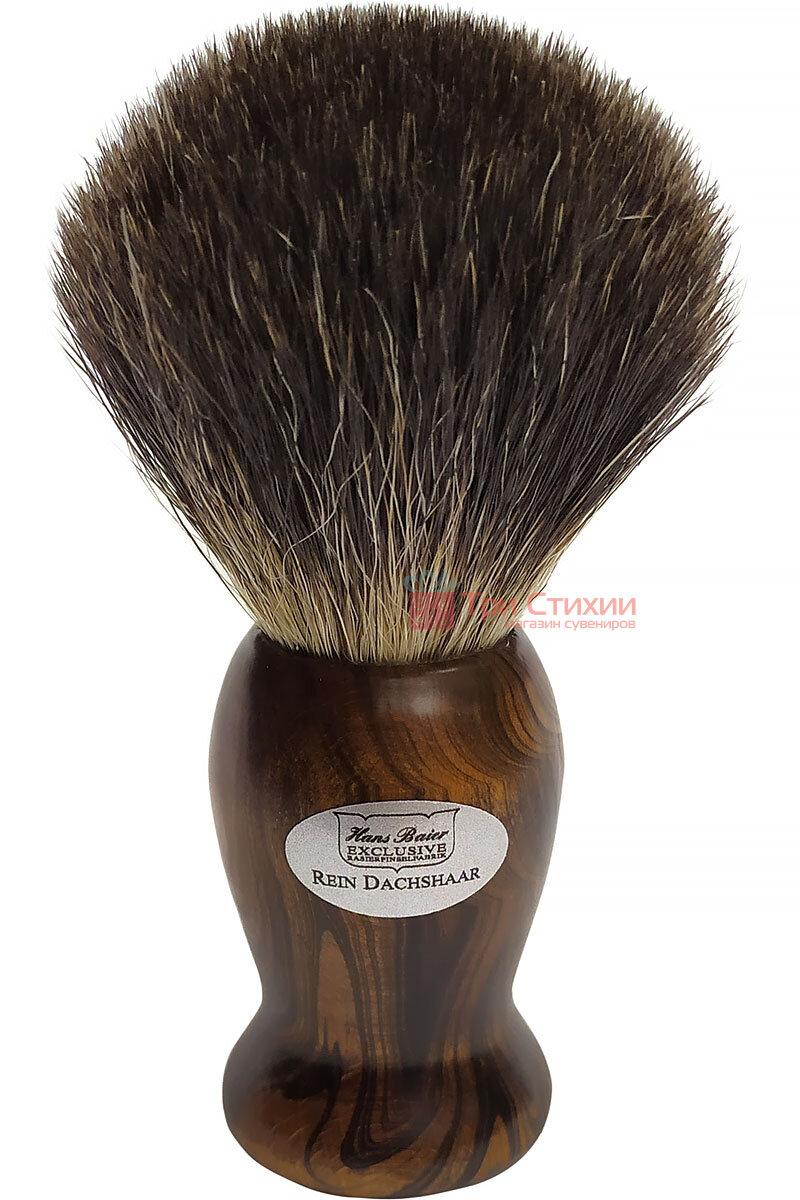 Помазок барсук для бритья Hans Baier 51181 Коричневый, фото