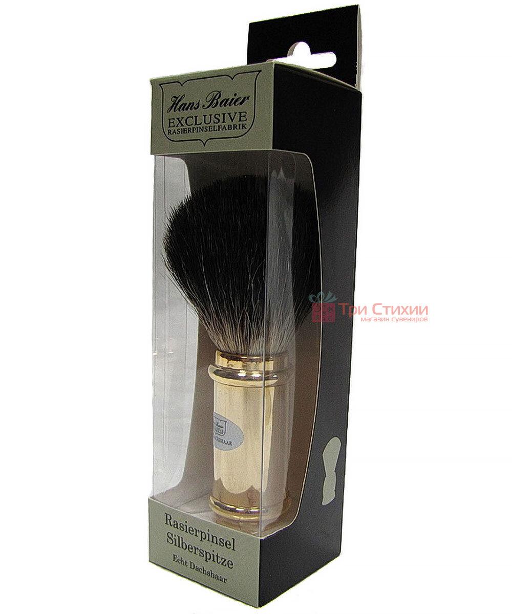 Помазок для гоління борсук Hans Baier 51321 Золотистий, фото 2