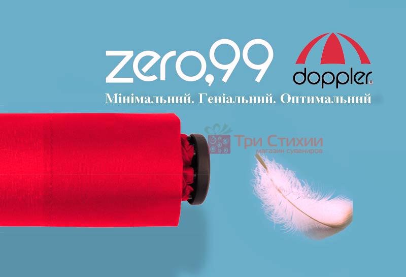 Парасолька складана Doppler ZERO 99 механічна 71063DSZ Чорна, фото 7