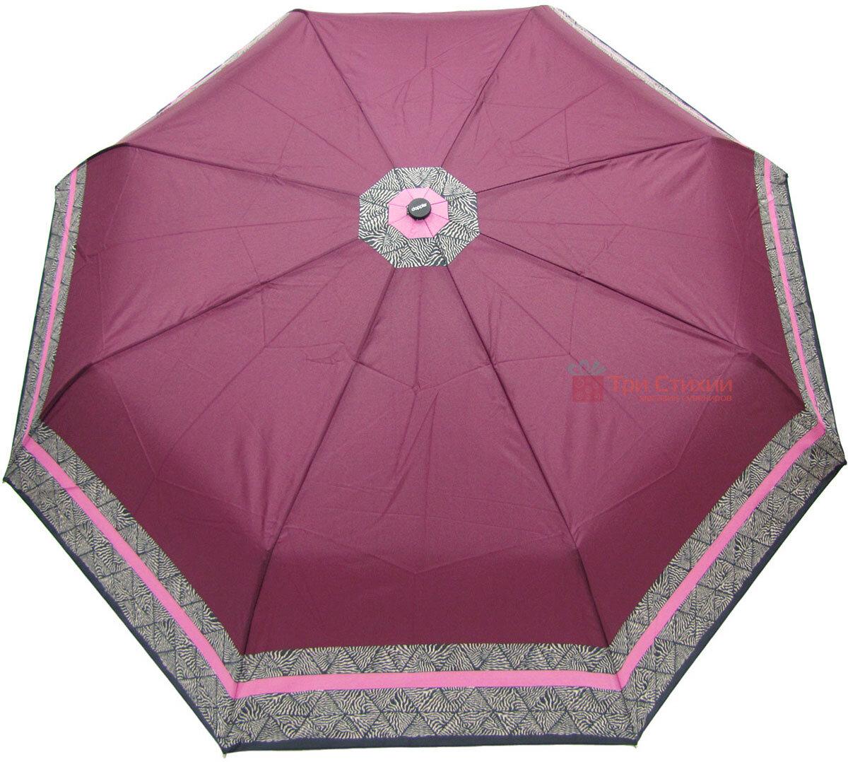 Зонт складной Doppler 7301653003-1 полуавтомат Бордовый Кант, фото 2