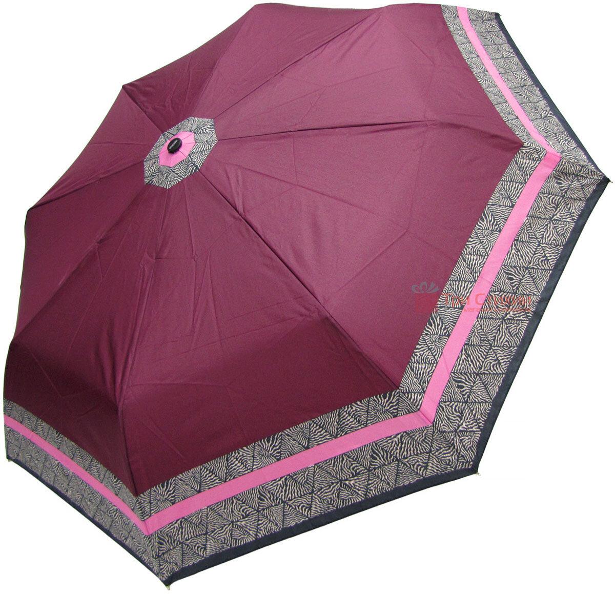 Зонт складной Doppler 7301653003-1 полуавтомат Бордовый Кант, фото