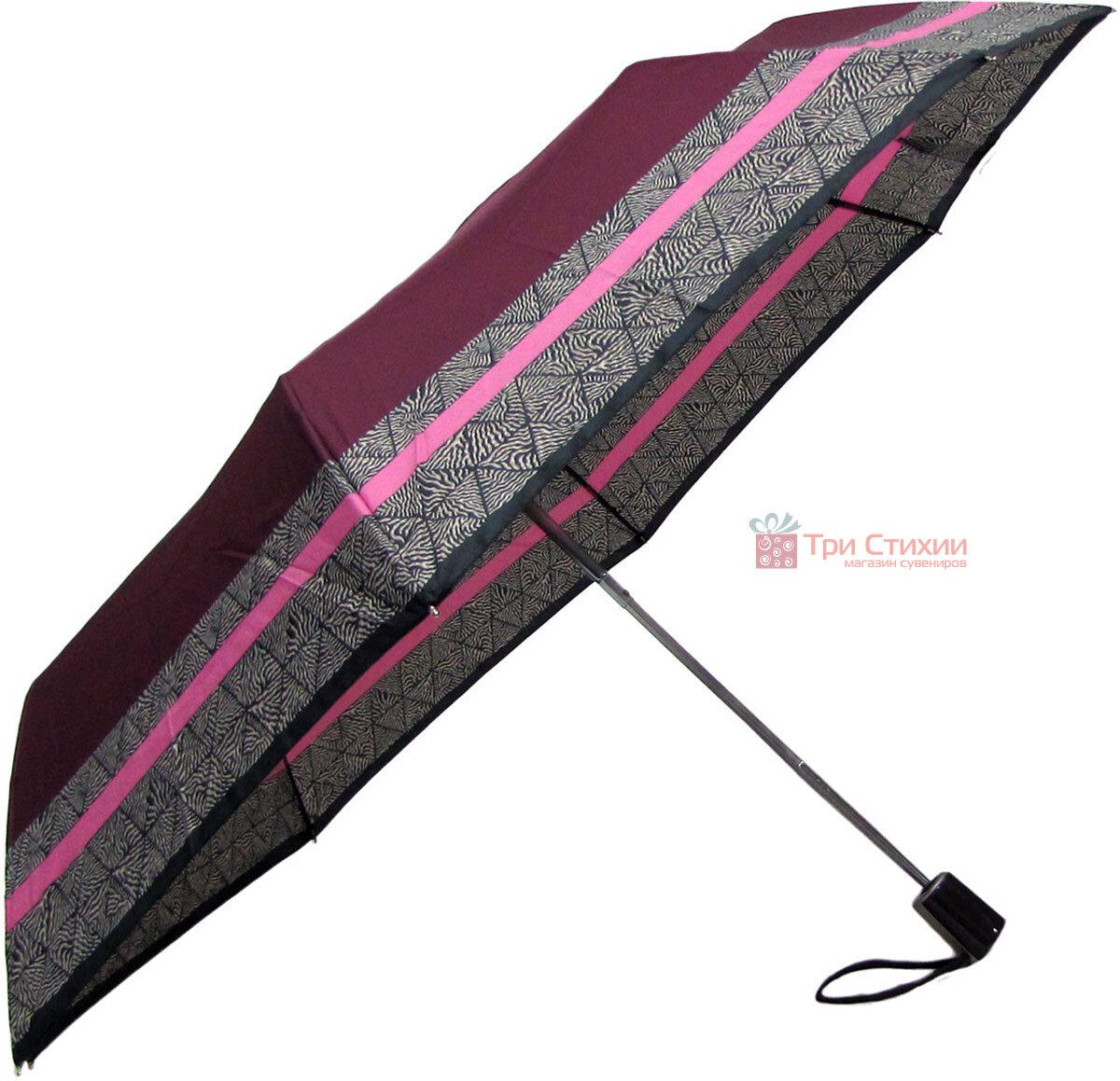 Зонт складной Doppler 7301653003-1 полуавтомат Бордовый Кант, фото 3