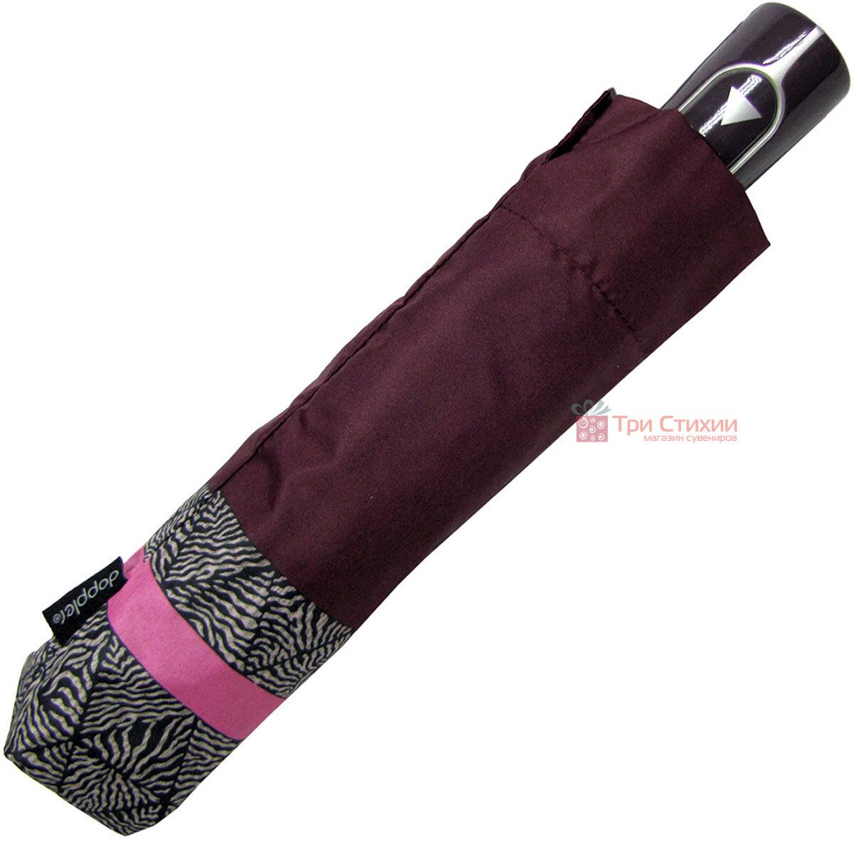 Зонт складной Doppler 7301653003-1 полуавтомат Бордовый Кант, фото 5