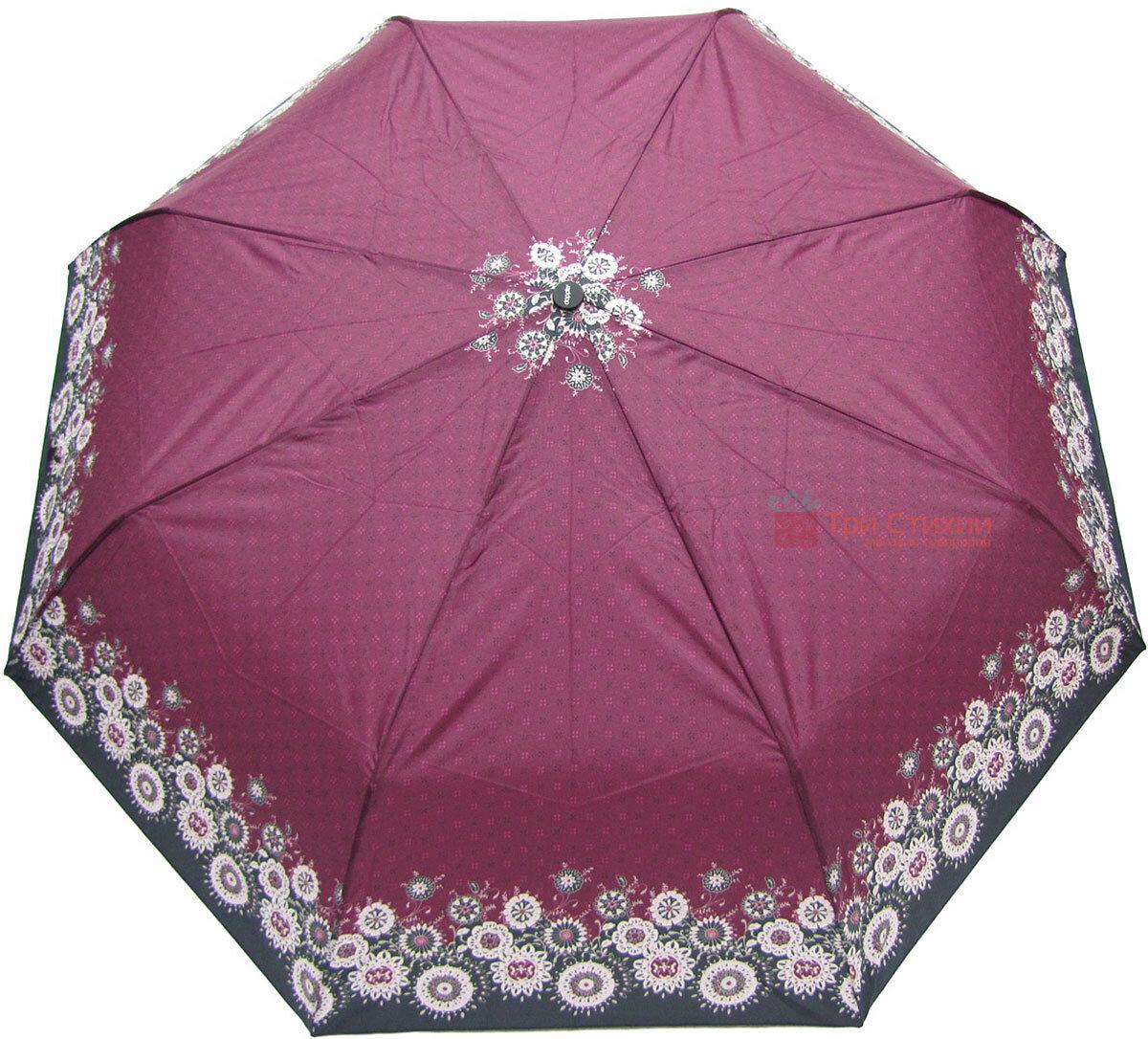 Зонт складной Doppler 7301653003-2 полуавтомат Бордовый Узор, фото 2