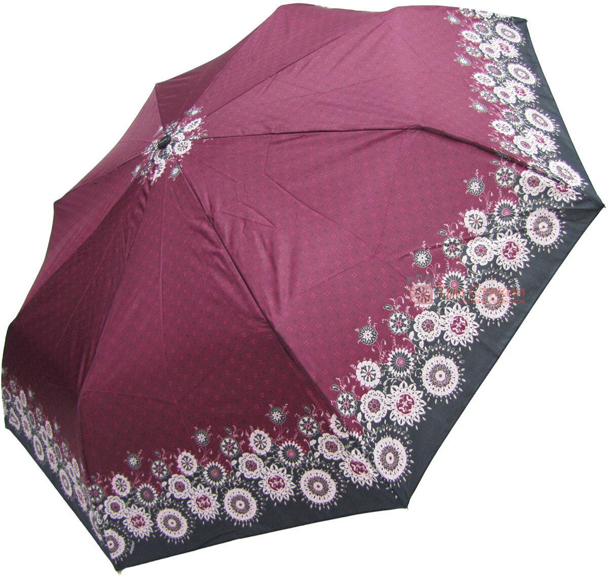 Зонт складной Doppler 7301653003-2 полуавтомат Бордовый Узор, фото