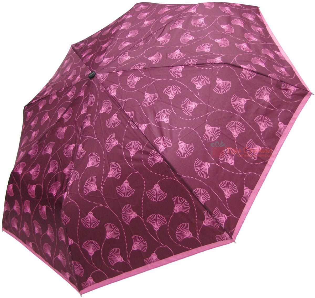 Зонт складной Doppler 7301653003-3 полуавтомат Бордовый Цветы, фото