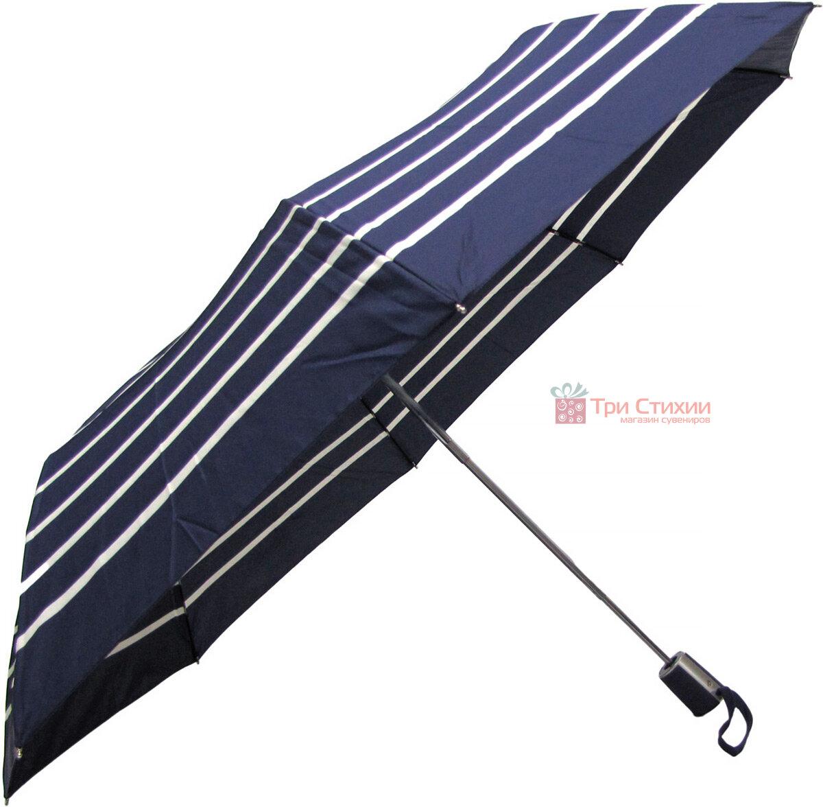 Зонт складной Doppler 730165NE03 полуавтомат Синий в полоску, фото 3