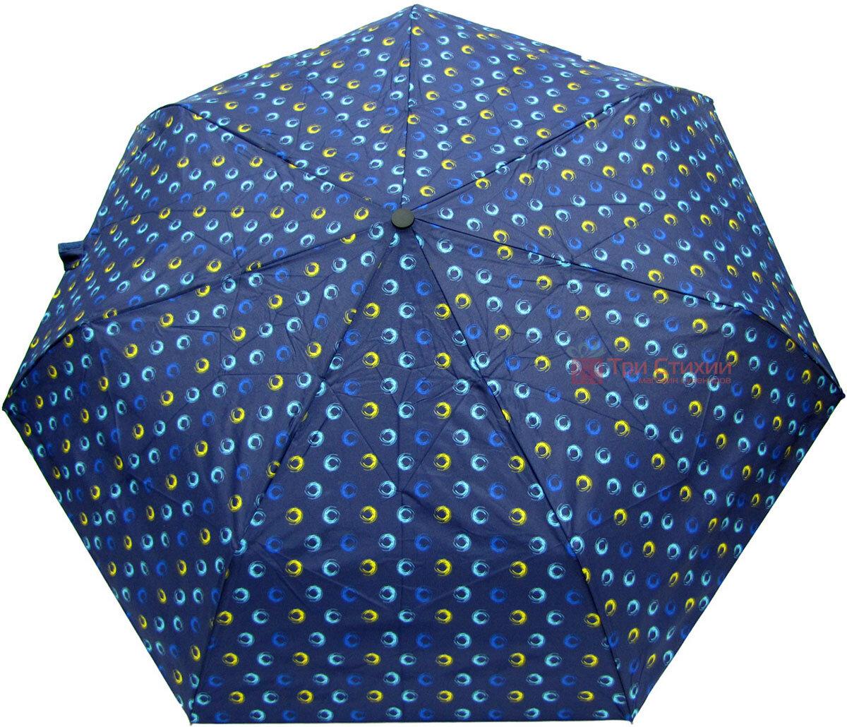 Зонт складной Derby 744165PHL-1 полный автомат Синий круги, Цвет: Синий, фото 2