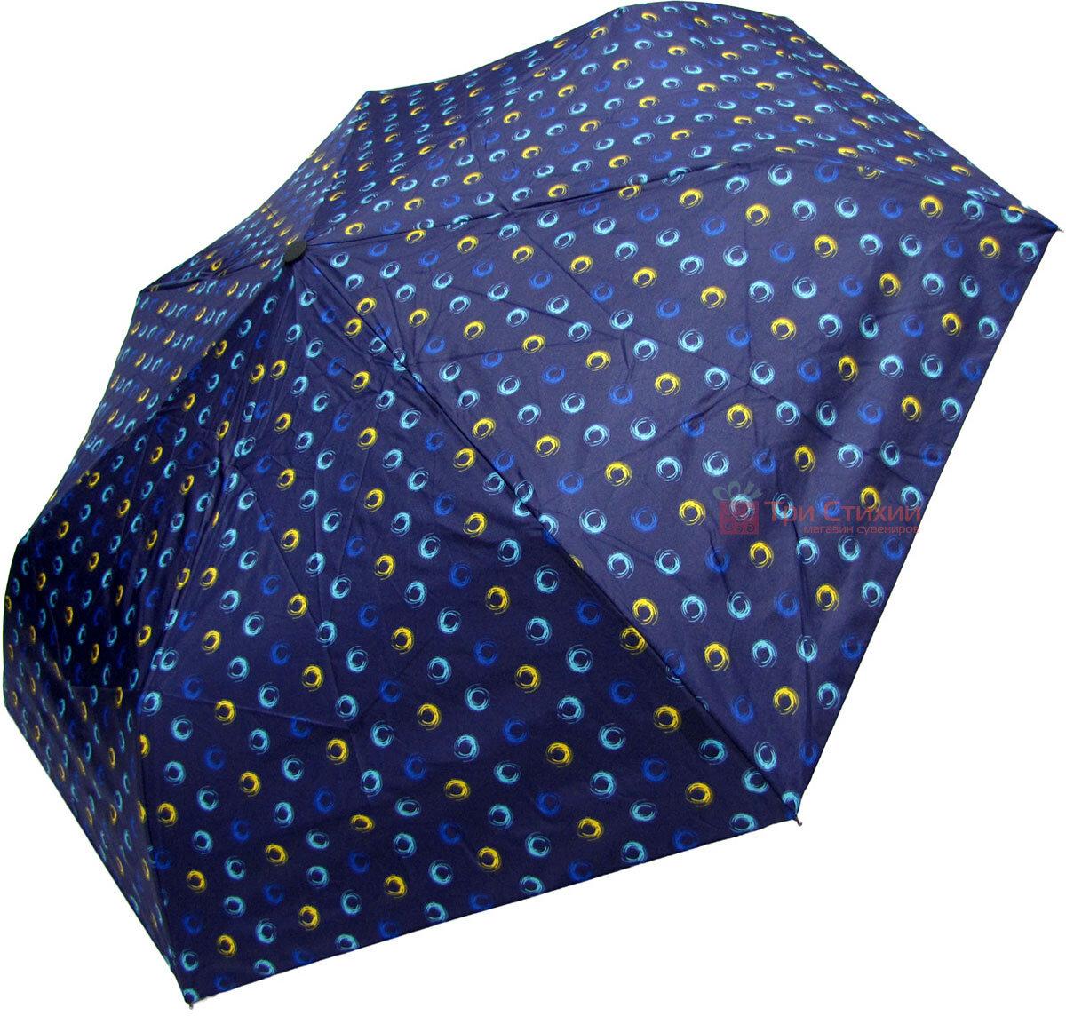 Зонт складной Derby 744165PHL-1 полный автомат Синий круги, Цвет: Синий, фото