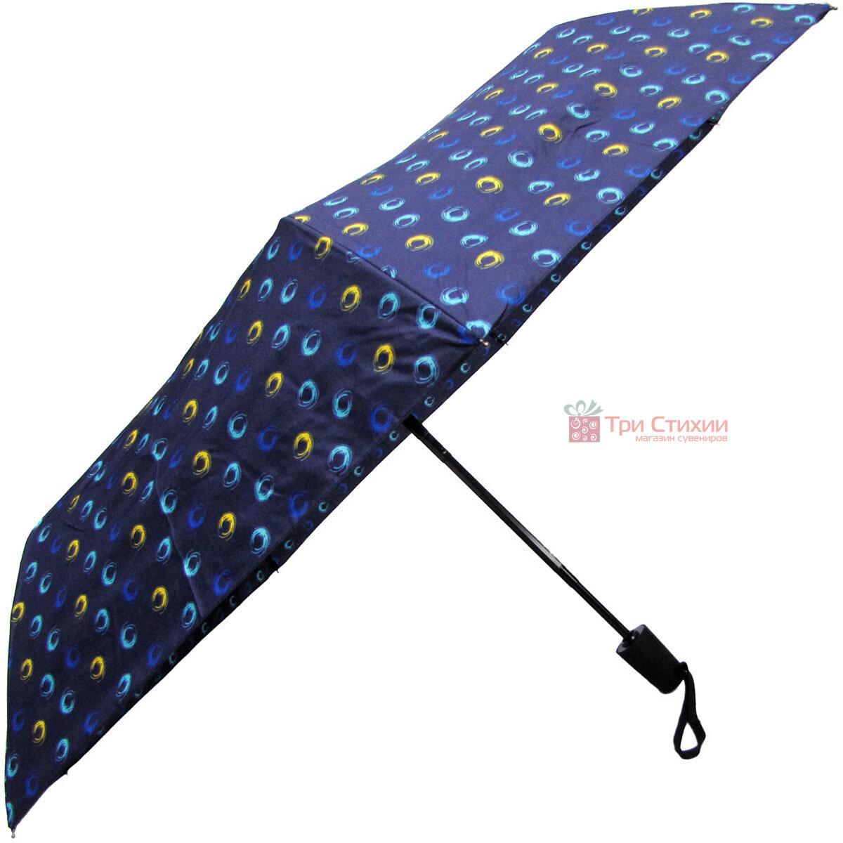 Зонт складной Derby 744165PHL-1 полный автомат Синий круги, Цвет: Синий, фото 3