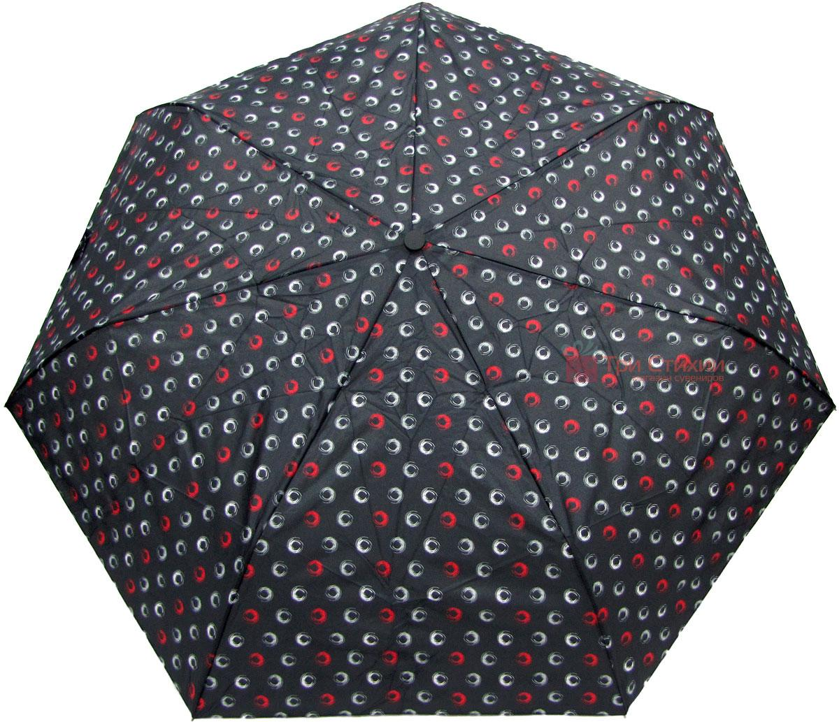 Зонт складной Derby 744165PHL-2 полный автомат Черный круги, Цвет: Черный, фото 2