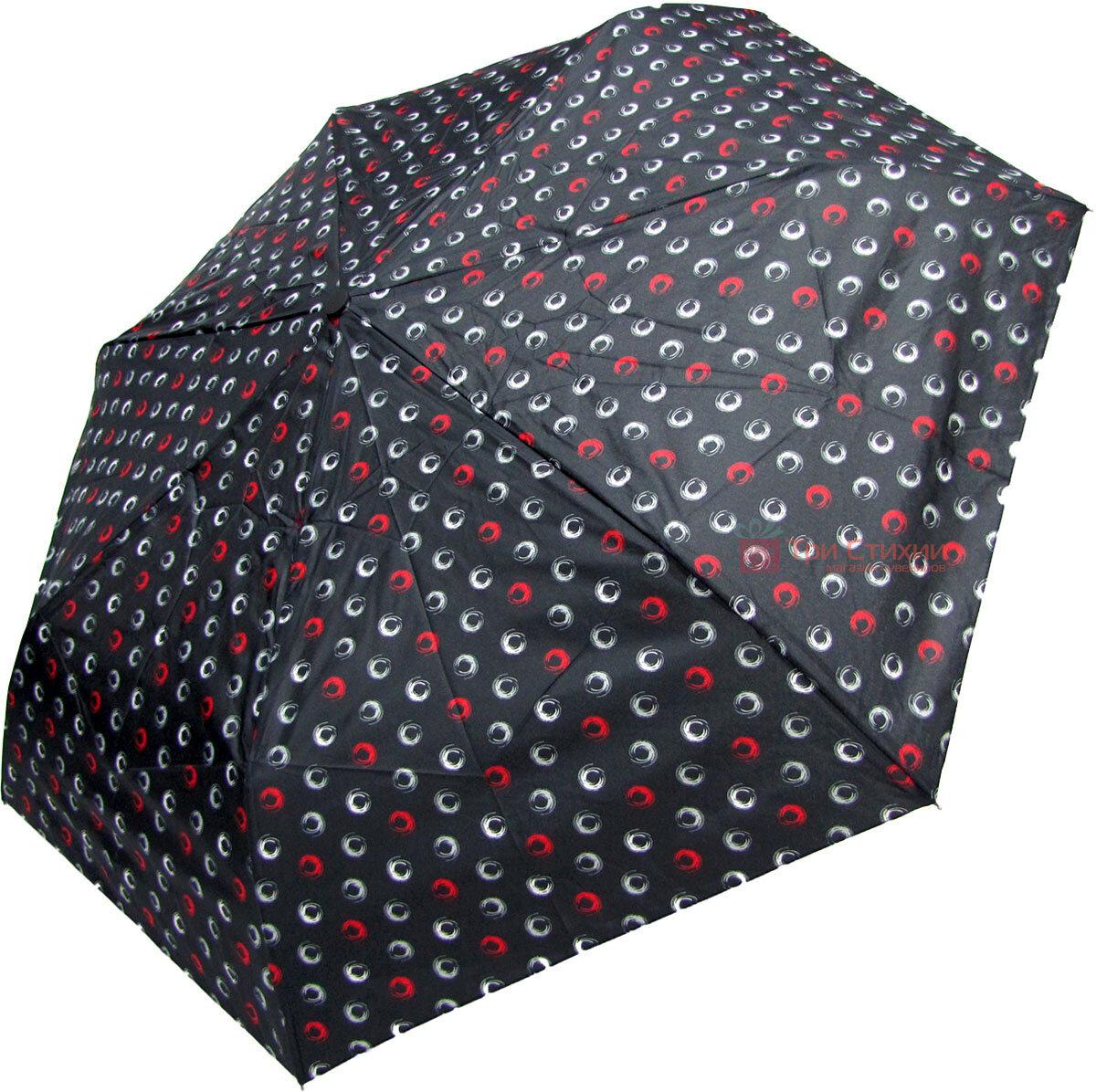 Зонт складной Derby 744165PHL-2 полный автомат Черный круги, Цвет: Черный, фото