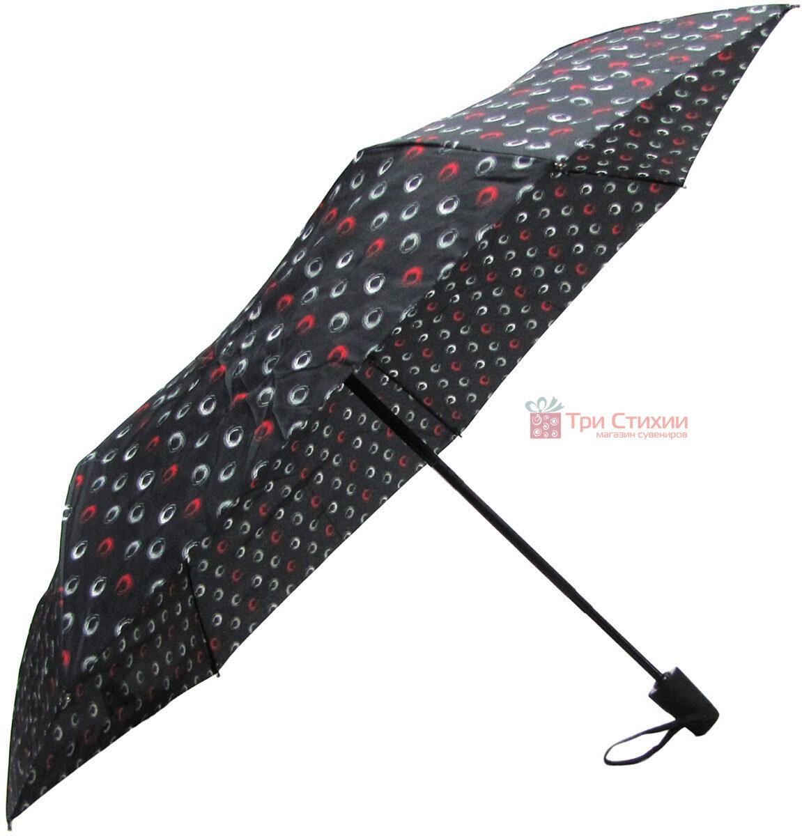 Зонт складной Derby 744165PHL-2 полный автомат Черный круги, Цвет: Черный, фото 3