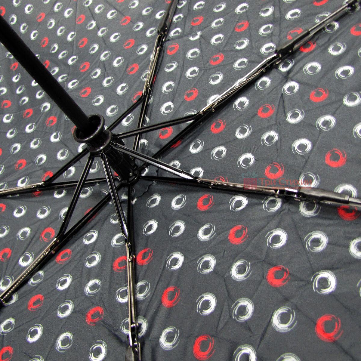 Зонт складной Derby 744165PHL-2 полный автомат Черный круги, Цвет: Черный, фото 4