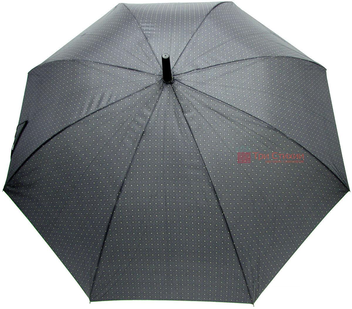 Зонт-трость Derby 77167P-1 полуавтомат Серый в ромбы, фото 2