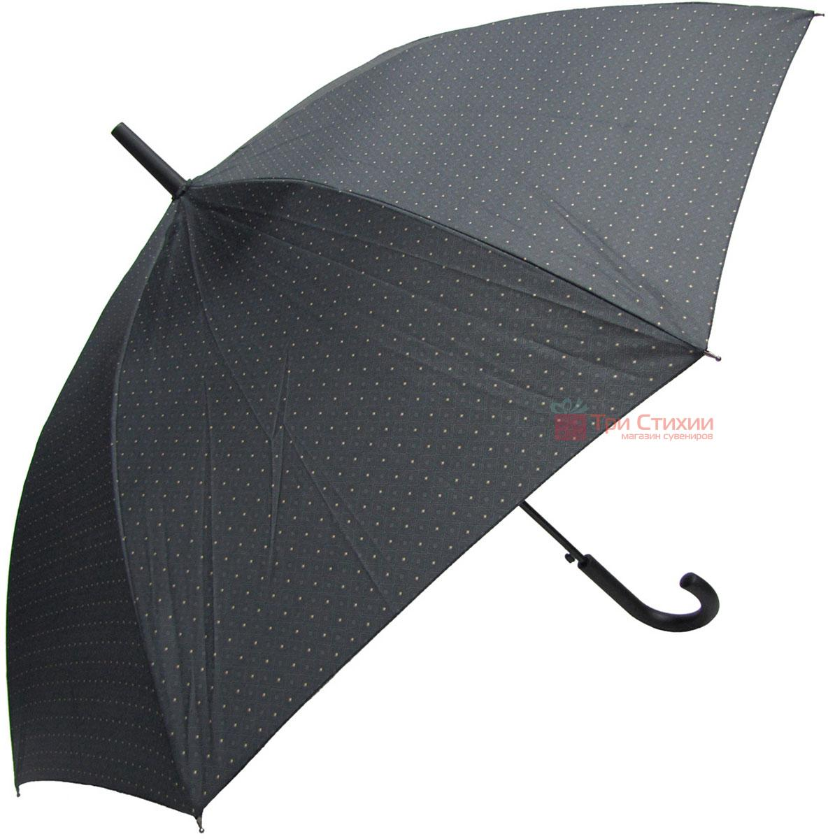 Зонт-трость Derby 77167P-1 полуавтомат Серый в ромбы, фото 3